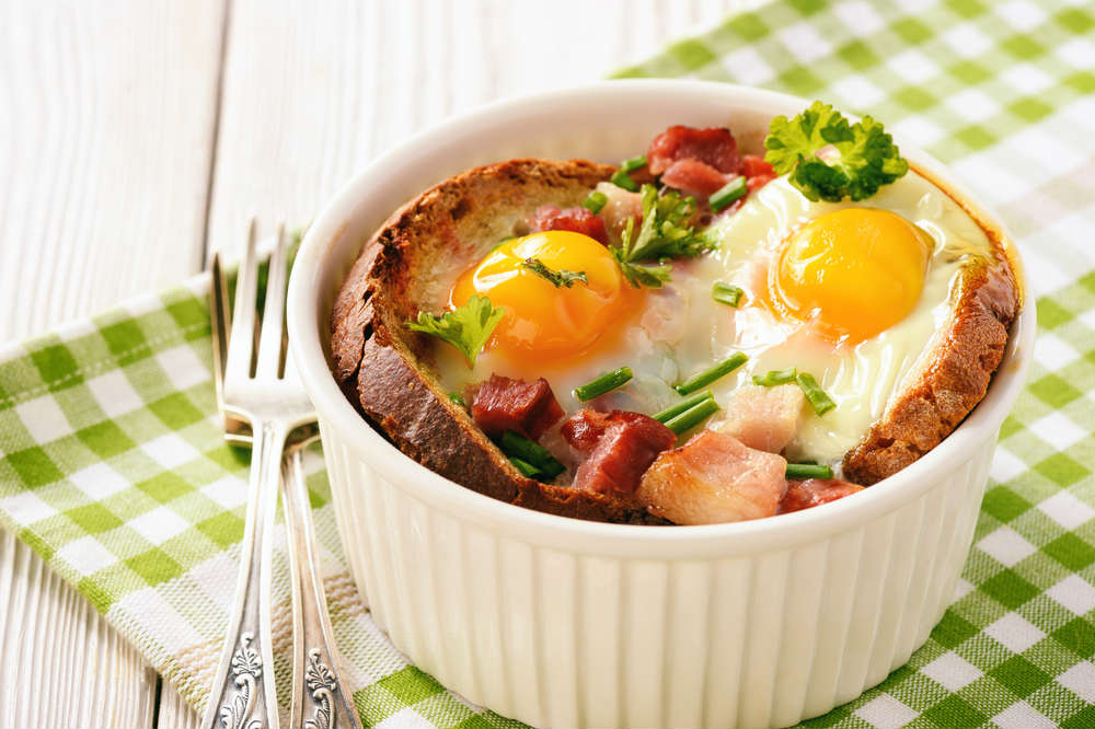 ricetta pane con uova e porri