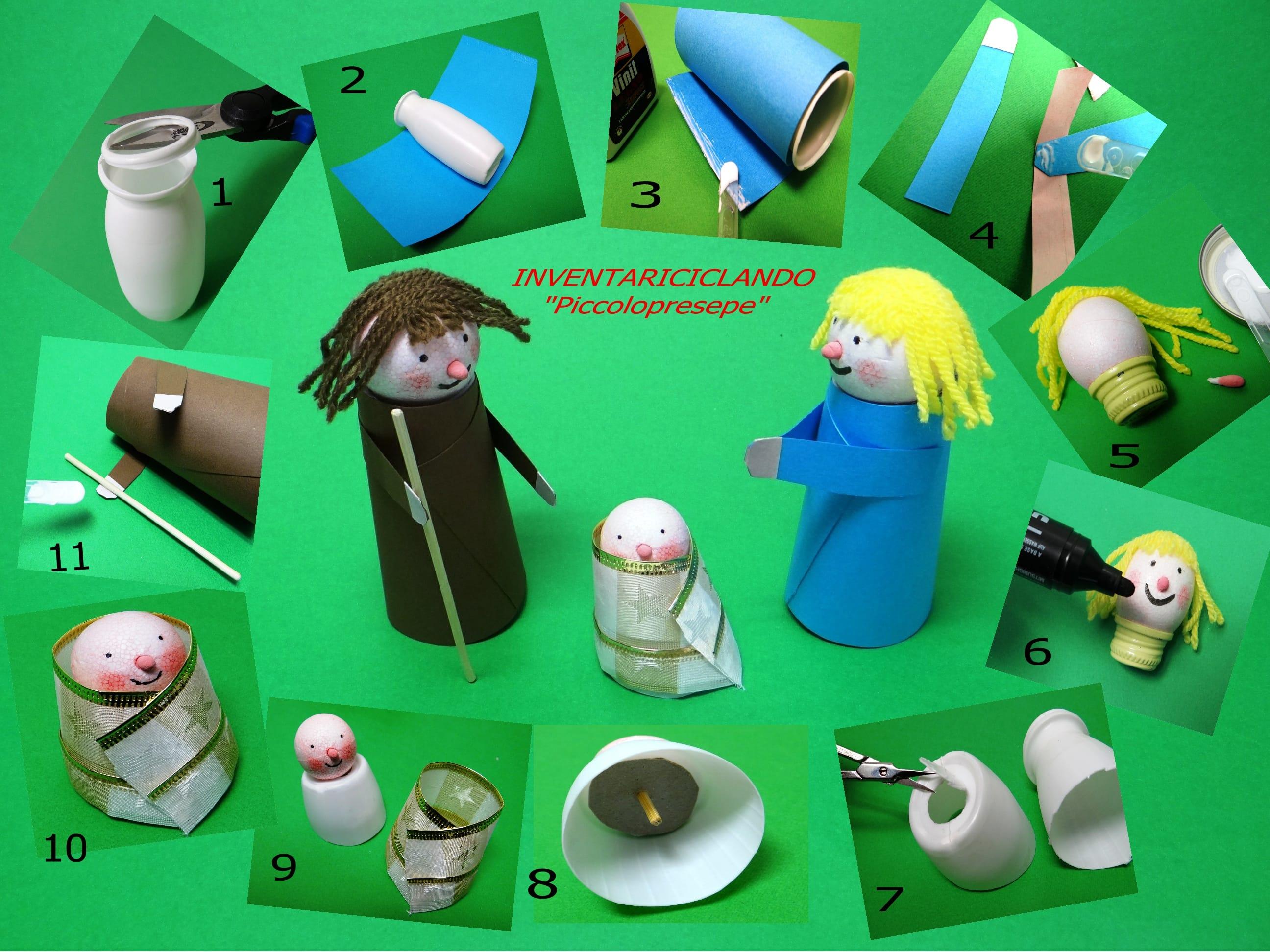 Bricolage Con Bottiglie Di Plastica.Presepe Fai Da Te Con Materiale Di Riciclo Non Sprecare