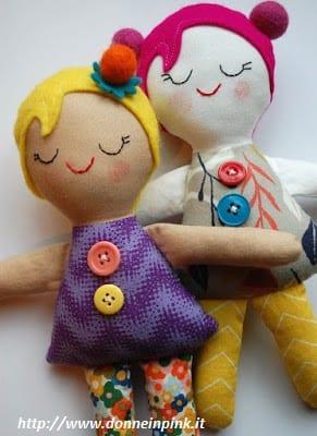 bambole tessuto fai da te