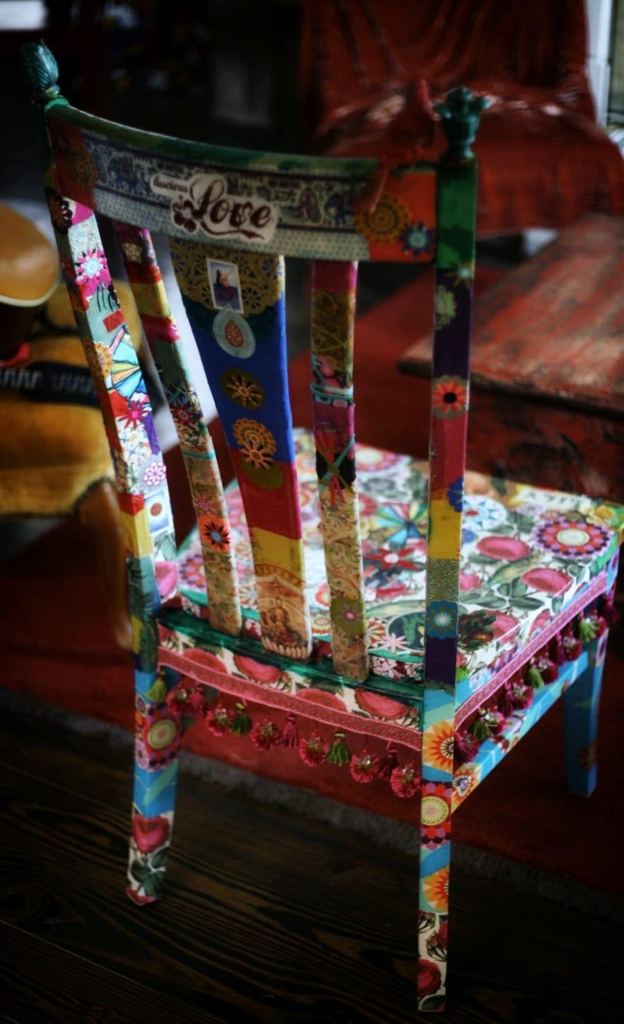 Dipingere Sedie Di Legno riciclo creativo mobili: idee curiose e low cost | foto