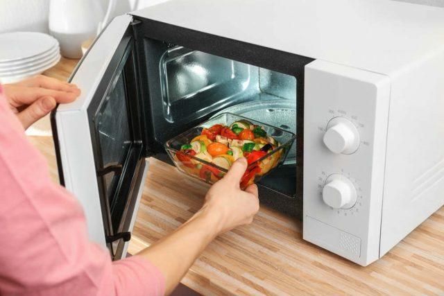 Stile di vita sano a microonde 2 PIANI VERDURE PESCE crostacei facile cucinare a vapore