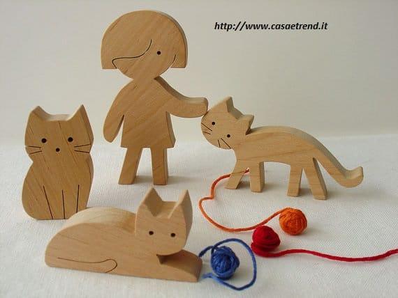 Giocattoli in legno fai da te per bambini - Non sprecare