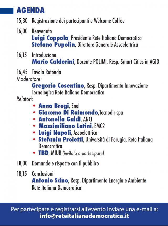 Smart cities e communities, a Roma la tavola rotonda organizzata da Rete Italiana Democratica