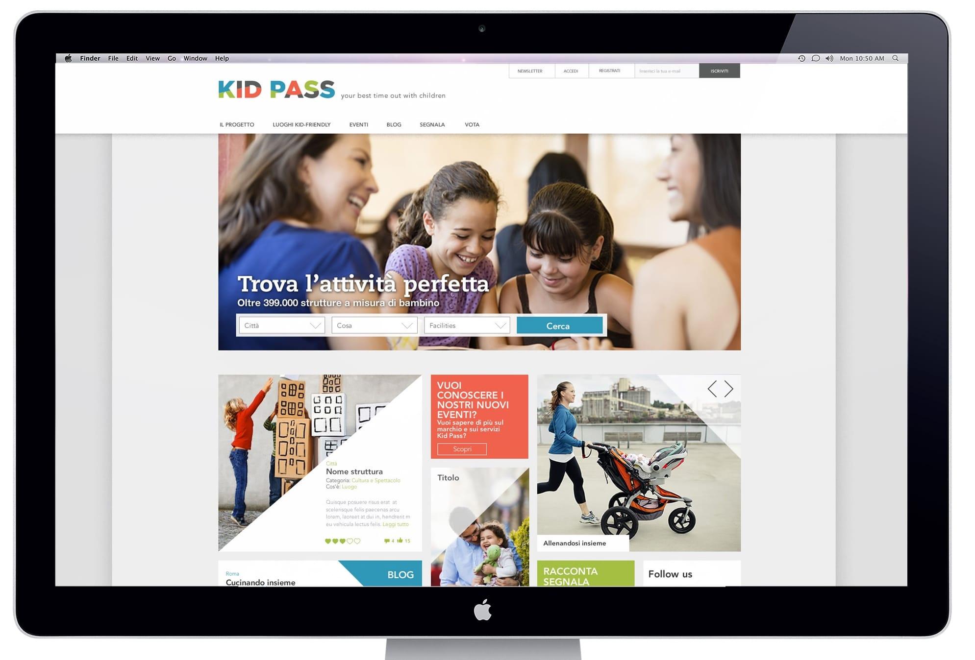 Il portale Kid Pass