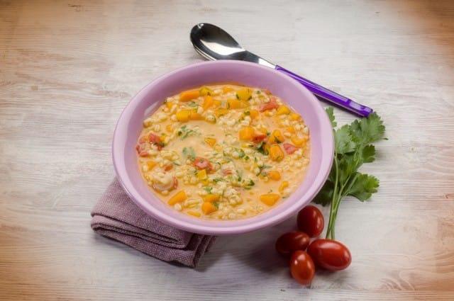 ricetta zuppa di orzo e zucca