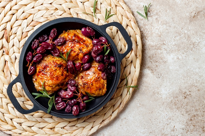 come preparare il pollo all'uva