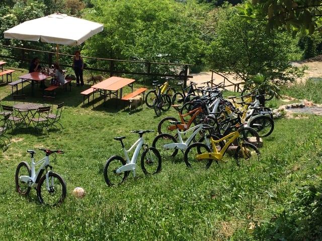 Test drive Neox. Bike park ristorante