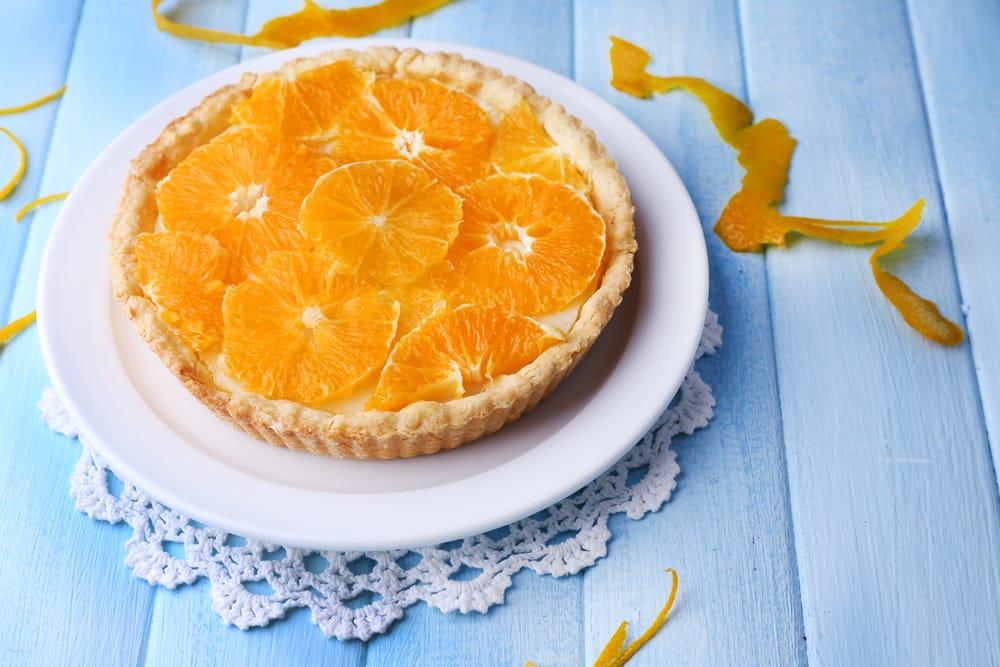 ricetta crostata con crema di arance