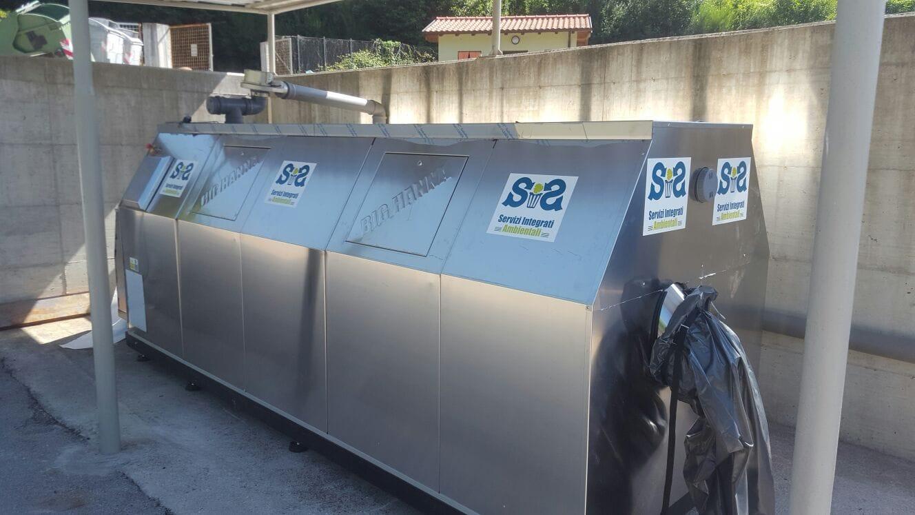 compostiera rifiuti organici bassiano