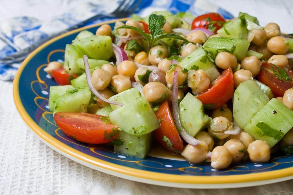 ricetta insalata di ceci