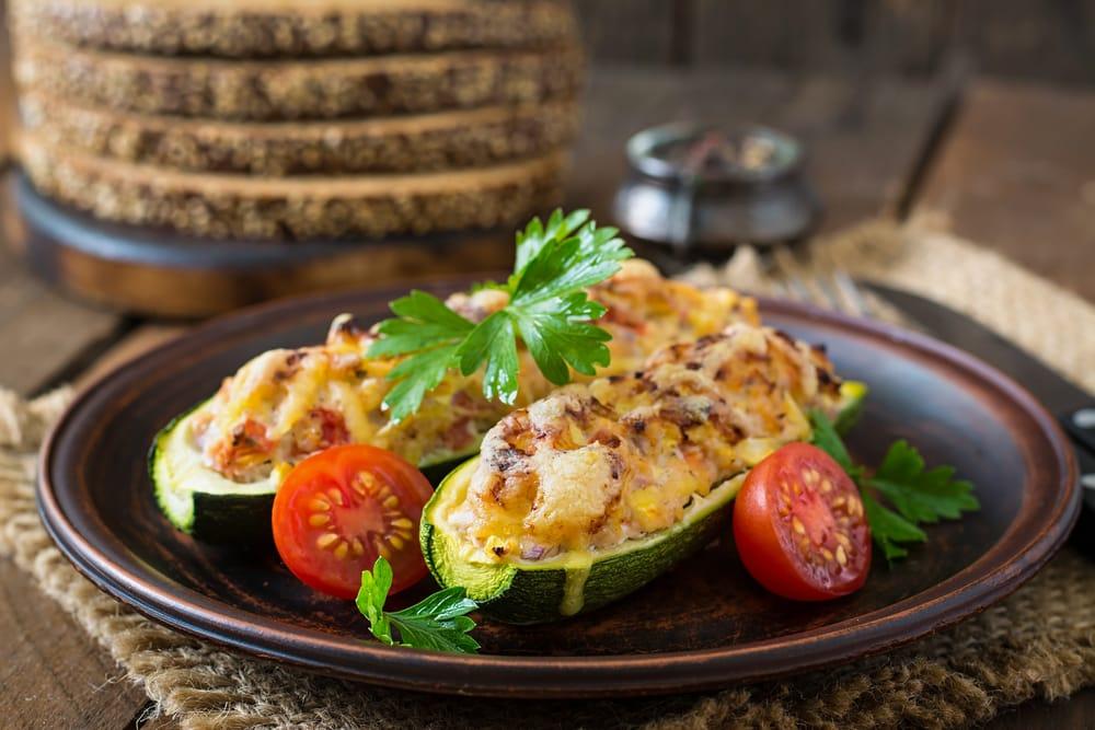 ricetta zucchine ripiene di ceci