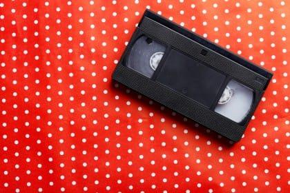 riciclo creativo videocassette