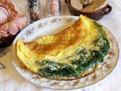 ricetta omelette con agretti