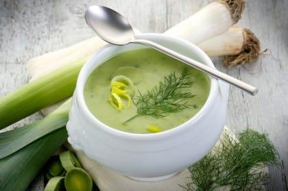 ricetta zuppa di porri