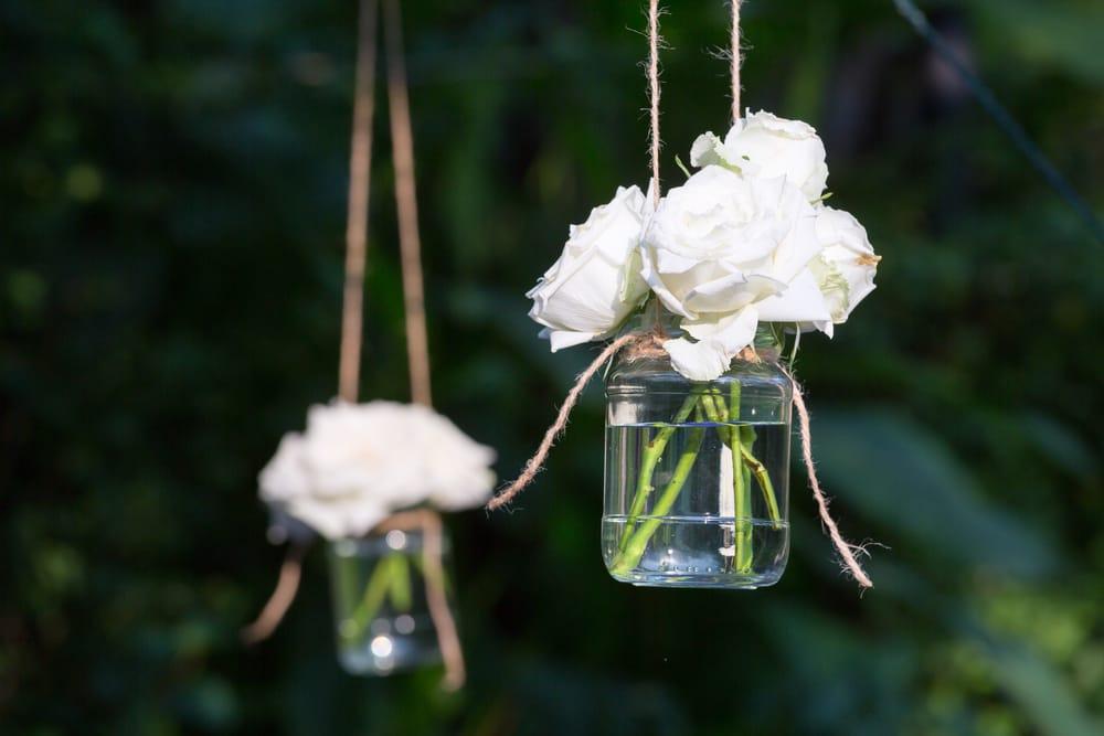 riciclo creativo dei barattoli di vetro