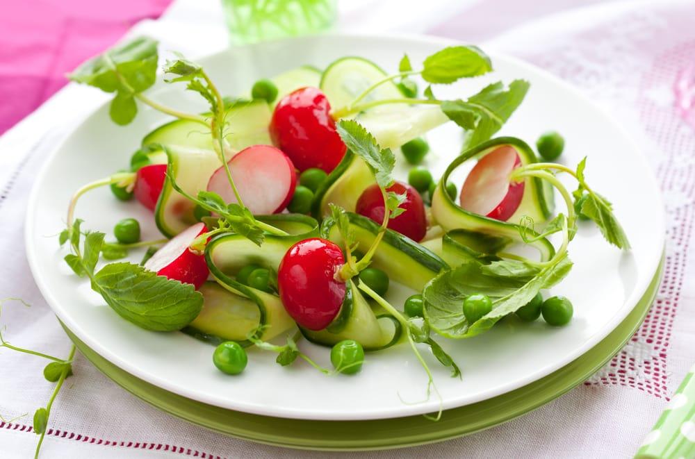 ricetta insalata di piselli e cetrioli