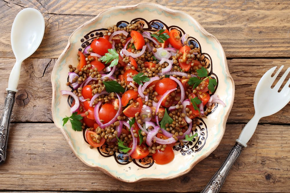 ricetta insalata di lenticchie