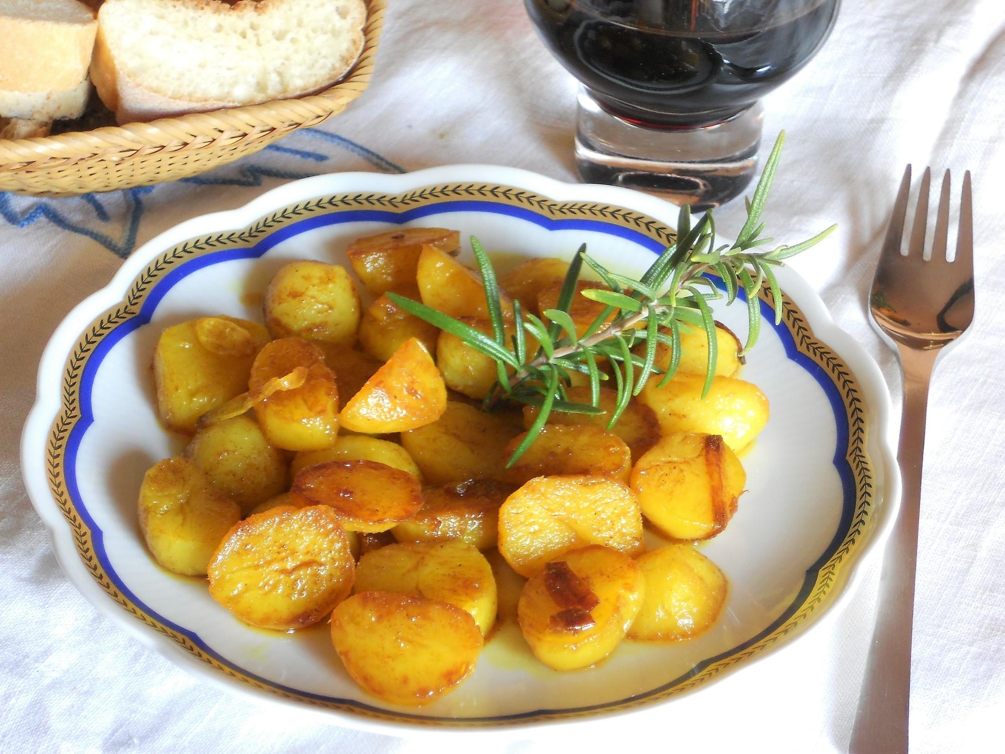 ricetta patate alla curcuma
