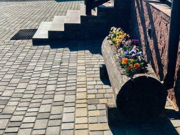 pavimento di ciottoli per esterno