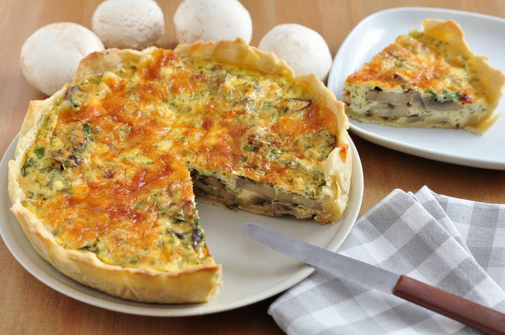 ricetta torta salata con i funghi