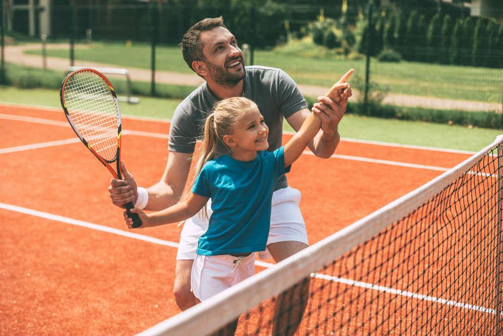 Benefici del tennis per i bambini