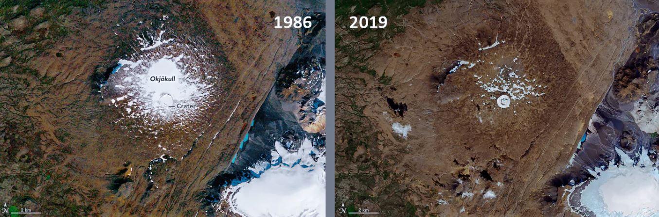 lo scioglimento del ghiacciaio islandese Okjökull