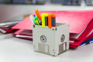 riciclo vecchi floppy disk