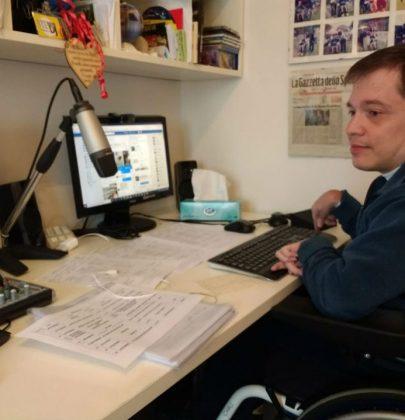 Steradiodj: dalla Lombardia una radio online sulla disabilità. Con uno speaker altrettanto speciale