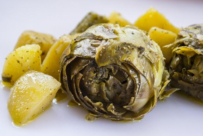insalata di carciofi e patate